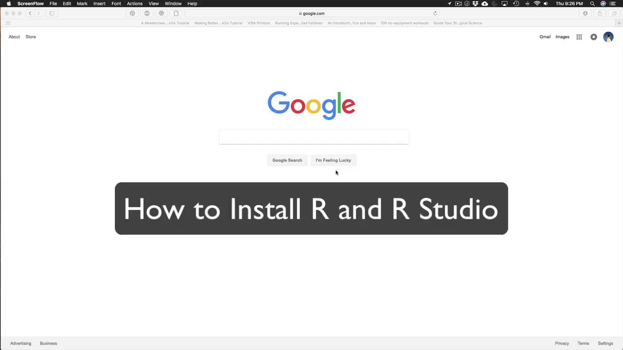 install r and rstudio on mac