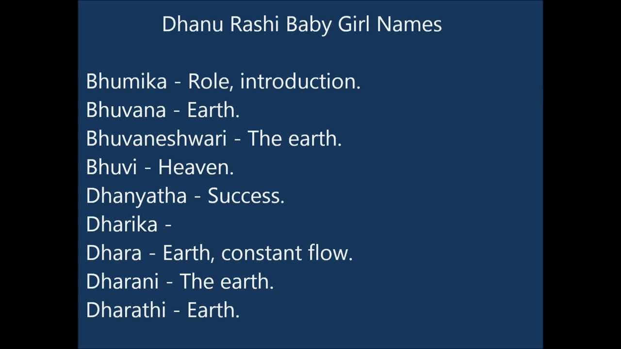 Baby Girl Names Wallpaper Dhanu Rashi Baby Girl Names Youtube