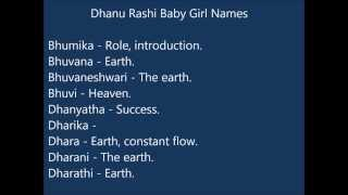 Dhanu Rashi Baby Girl Names
