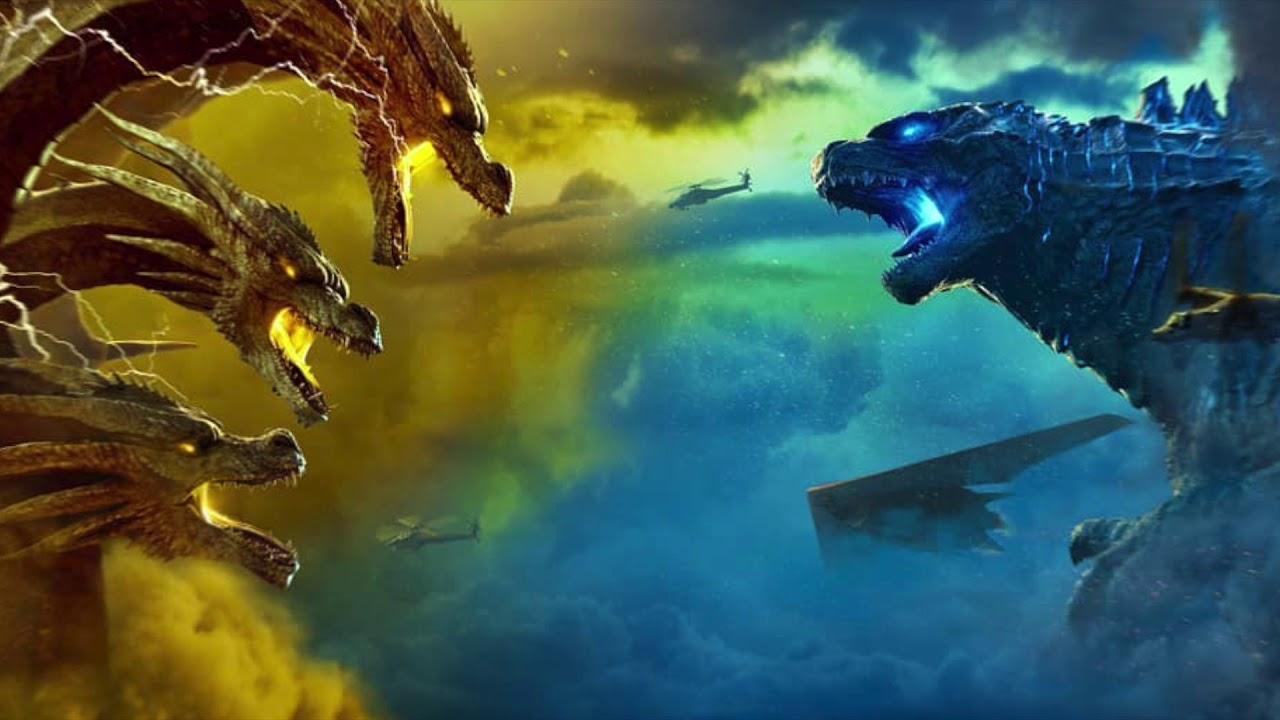 Godzilla Vs King Ghidorah In Godzilla King Of The Monsters Key Art