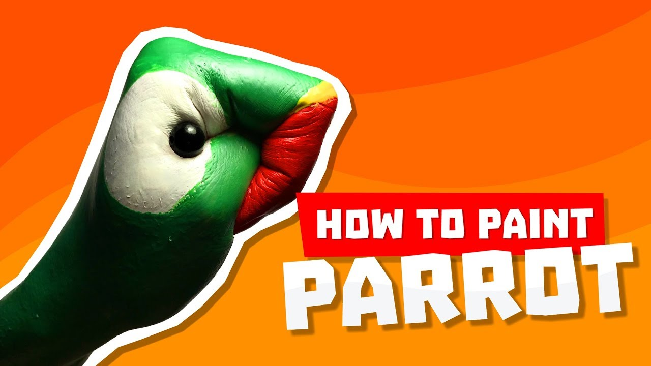 Tutorial: How to paint a Parrot on your hand 💗 Jak namalować Papugę na ręce 🍁