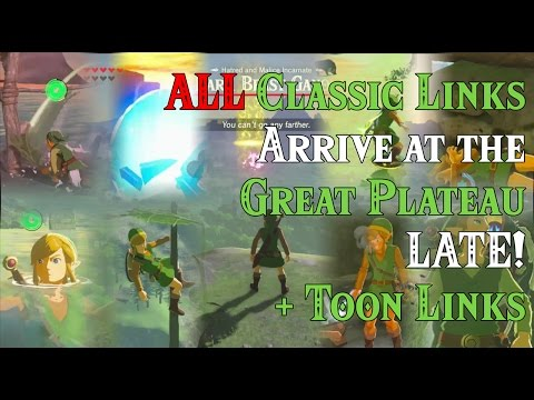 ALL Classic Links Arrive at The Great Plateau LATE! + Toon Links! in Zelda Breath of the Wild (FLA)
