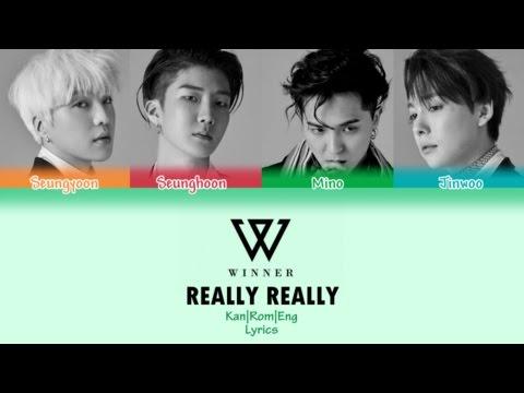 WINNER / REALLY REALLY -Japanese Ver.- (Kan/Rom/Eng Lyrics) カラオケ| 歌詞付き