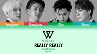 WINNER / REALLY REALLY -Japanese Ver.- (Kan/Rom/Eng Lyrics) カラオケ| 歌詞付き