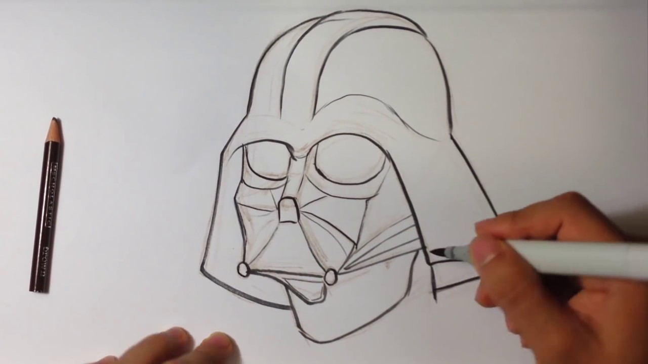 Drawing Darth Vader from Star Wars Easy Pictures to Draw YouTube