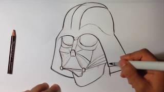 Drawing Darth Vader from Star Wars - Easy Pictures to Draw