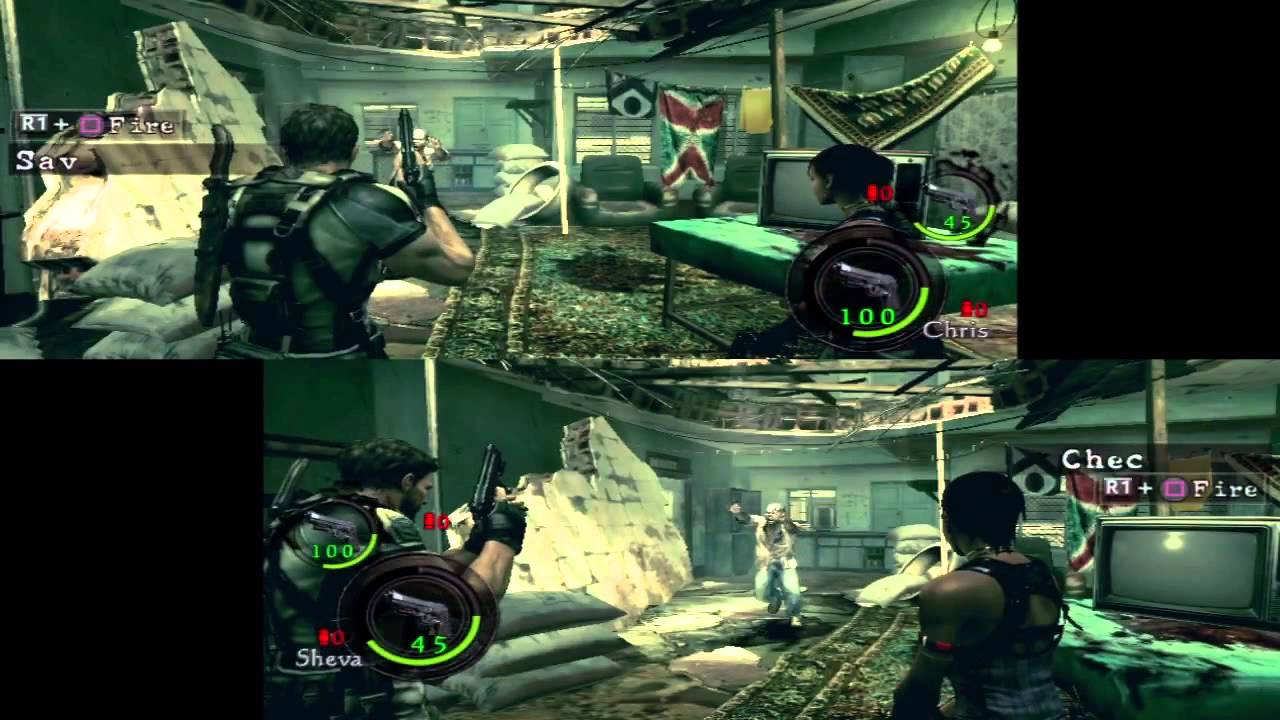 Resident Evil 5 Co Op Splitscreen Hd Chris Redfield Sheva Alomar Part 1 Chapter 1 1 Youtube