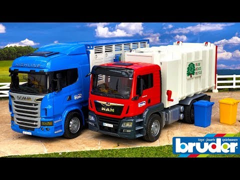 BRUDER TOYS News Unboxing 2018 | Scania Truck & Garbage Truck | Video For Kids