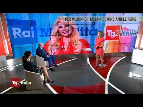 ALESSANDRA CANALE CON MARZIA RONCACCI TG2 ITALIA TRAFFICO WEEKEND – 2 luglio 2021 ore 10:15