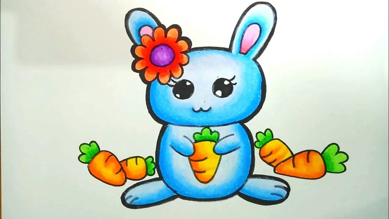 Menggambar Dan Mewarnai Kelinci How To Draw Bunny