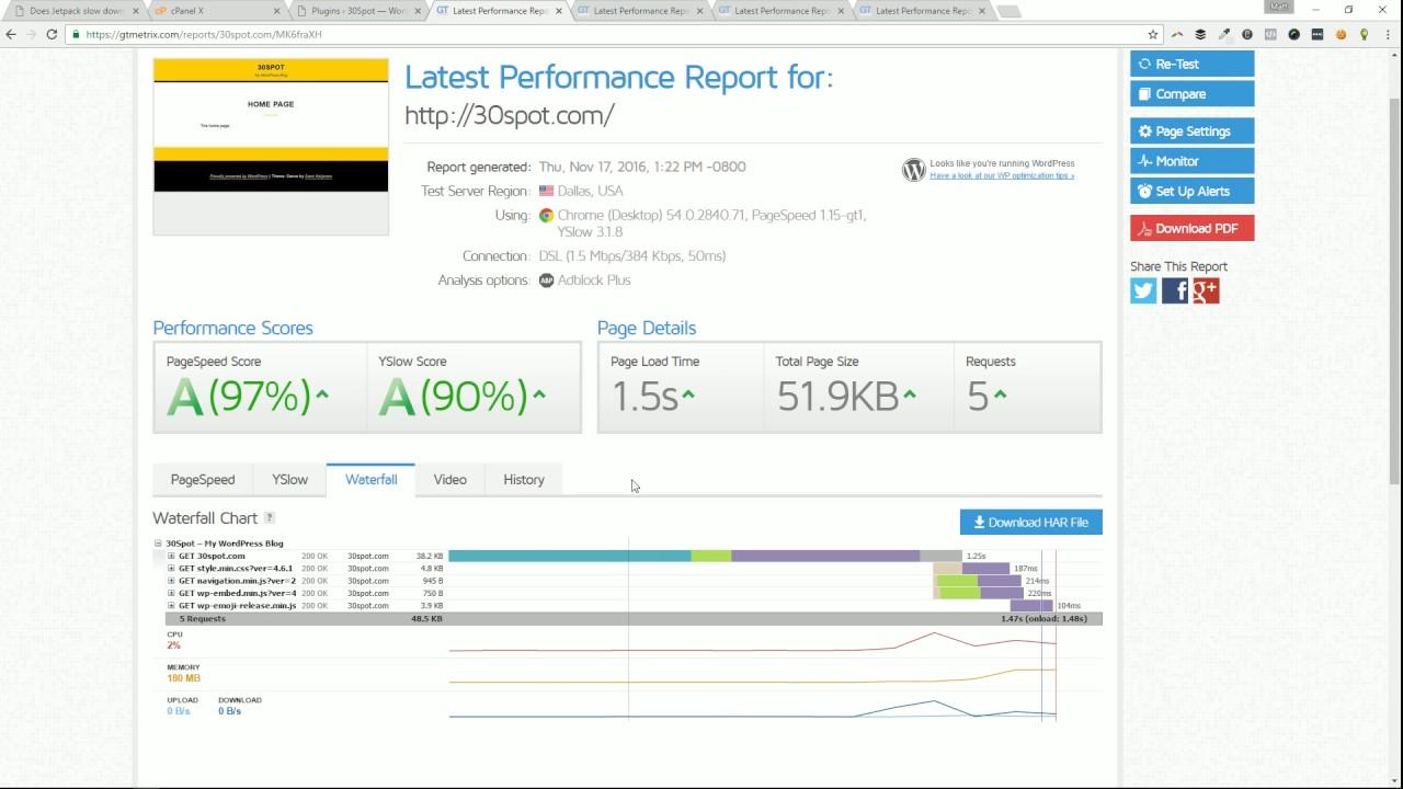 Does Jetpack slow down a WordPress website?