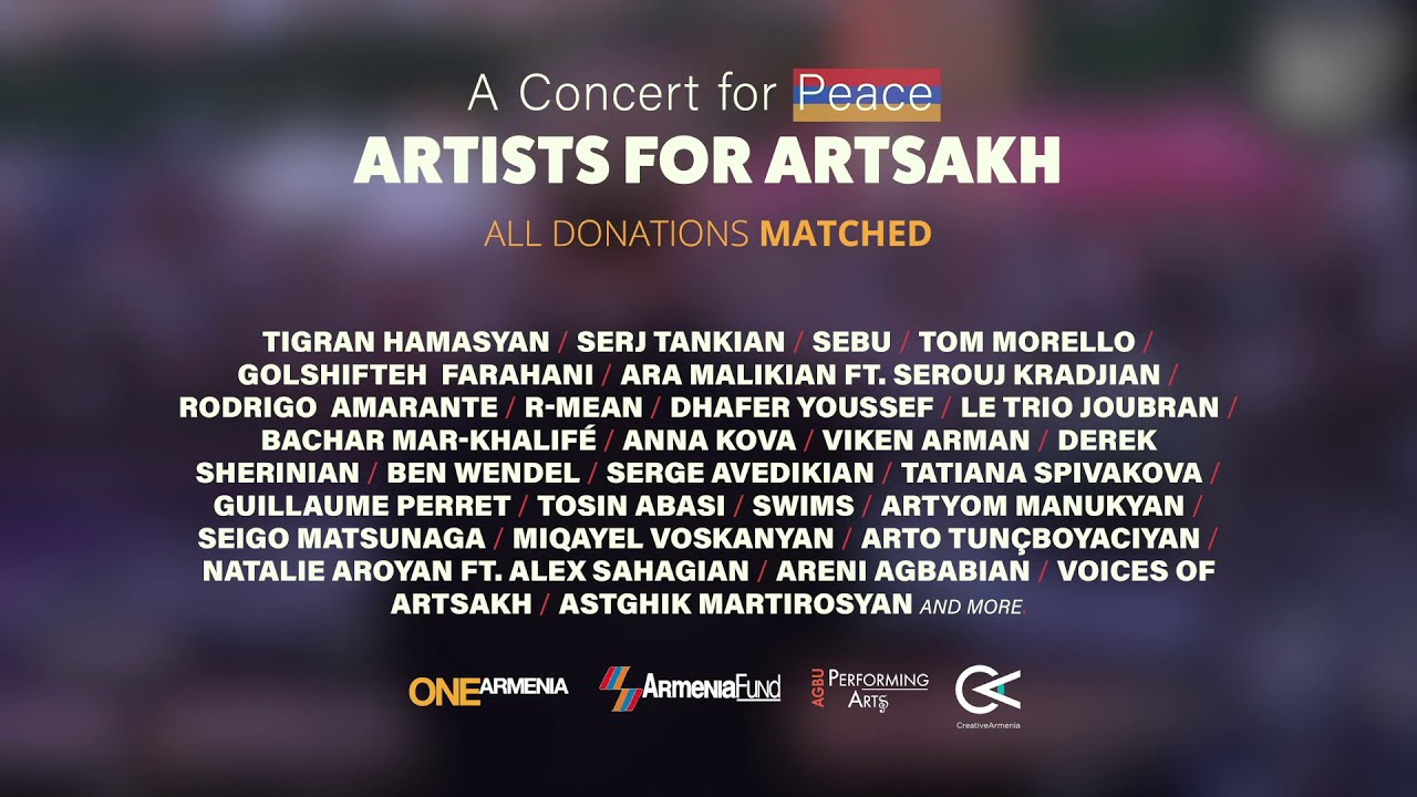 Artists for Artsakh: A Concert for Peace - YouTube