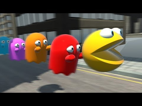 Pac Man Adventures in Looney Tunes Style