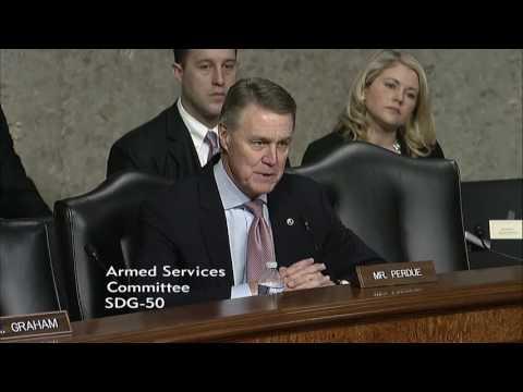 Senator David Perdue In Senate Armed Services