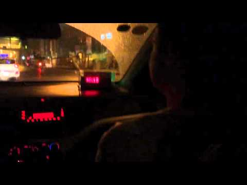 Taxi Ride At night in Vietnam