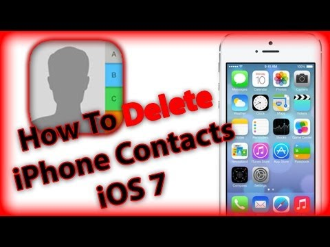 How To Delete Contacts Iphone 5s 5c 4s And With Ios