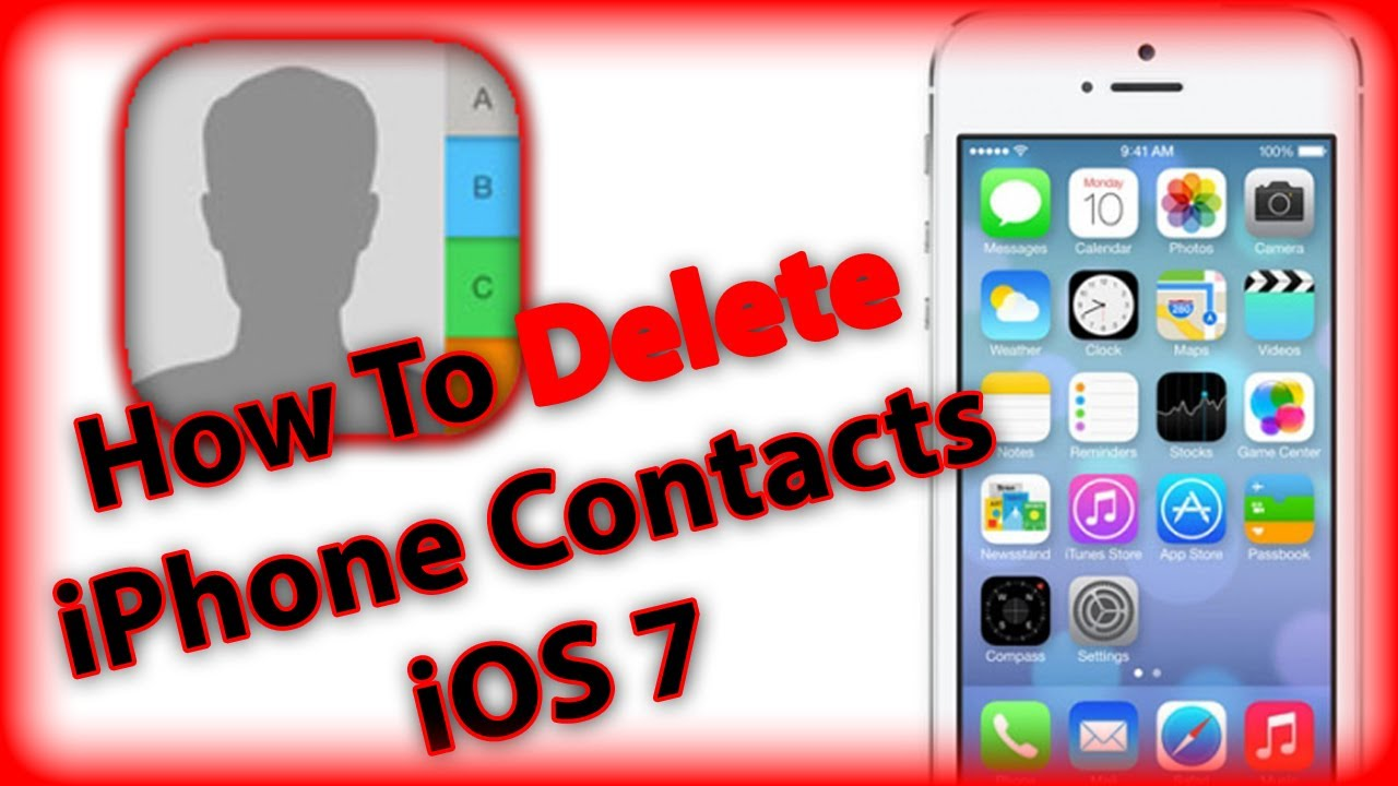 How to get delete multiple contacts on iphone 5c