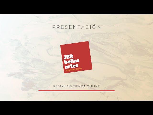Presentación Web Tienda Bellas Artes Jer