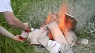 Тест огнетушителя ОП1 Fire Extinguisher