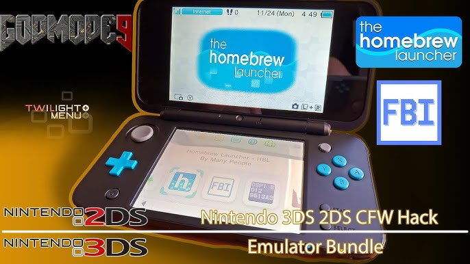 how to instal custom firmware on 2ds xl 11.8