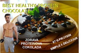 Zdrava Proteinova Cokolada / Healthy High Protein Chocolate / Eng subs/ fitness recept