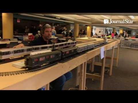 "Some intense ""training"" during the Peoria Train Fair at Illinois Central College's East Peoria campu"