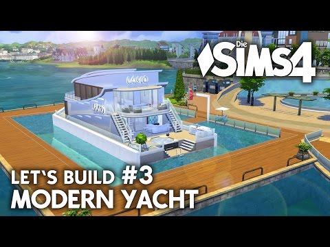 Yacht bauen in Die Sims 4 | Let's Build #3 Hafen Grundstück mit modernem Boot