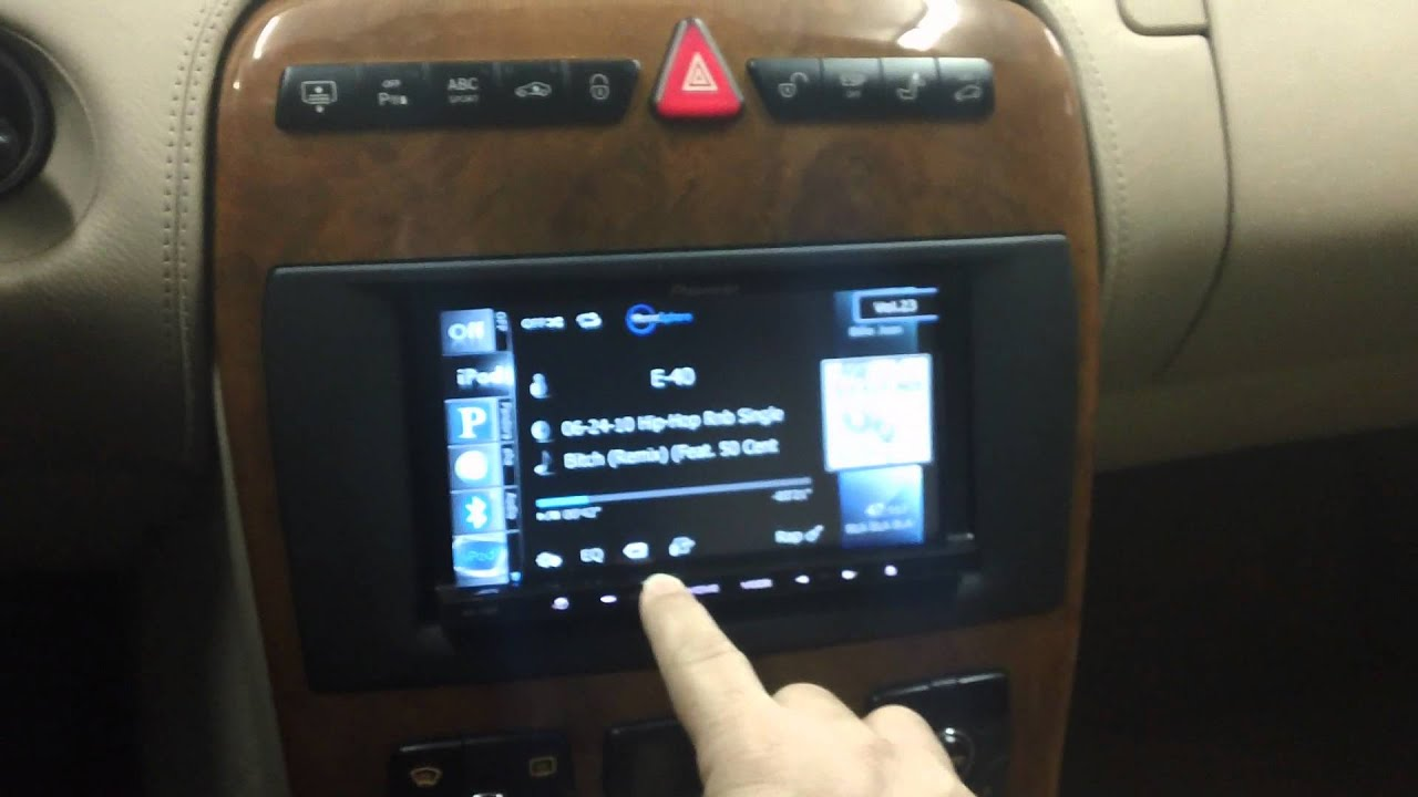2006 mercedes benz cl500 w215 navigation upgrade avic. Black Bedroom Furniture Sets. Home Design Ideas