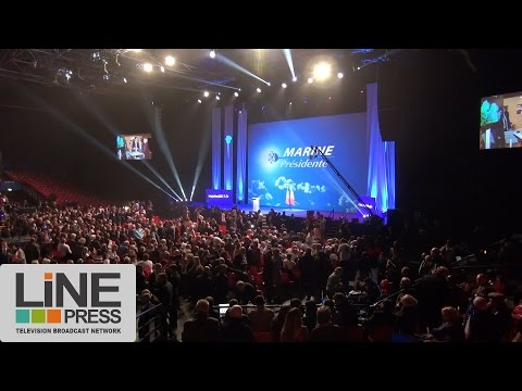 Meeting de Marine Le Pen / Paris - France 17 avril 2017