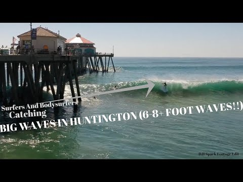 Huntington Beach Surf (Big South Swell October) DJI SPARK