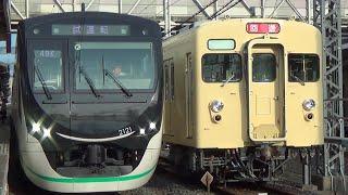 【懐かしの「快速たびじ」がよみがえる!鉄道博物館貸切の旅!】東武8000系8111F初期顔HM付き団体専用列車通過・入線・入庫・警笛あり