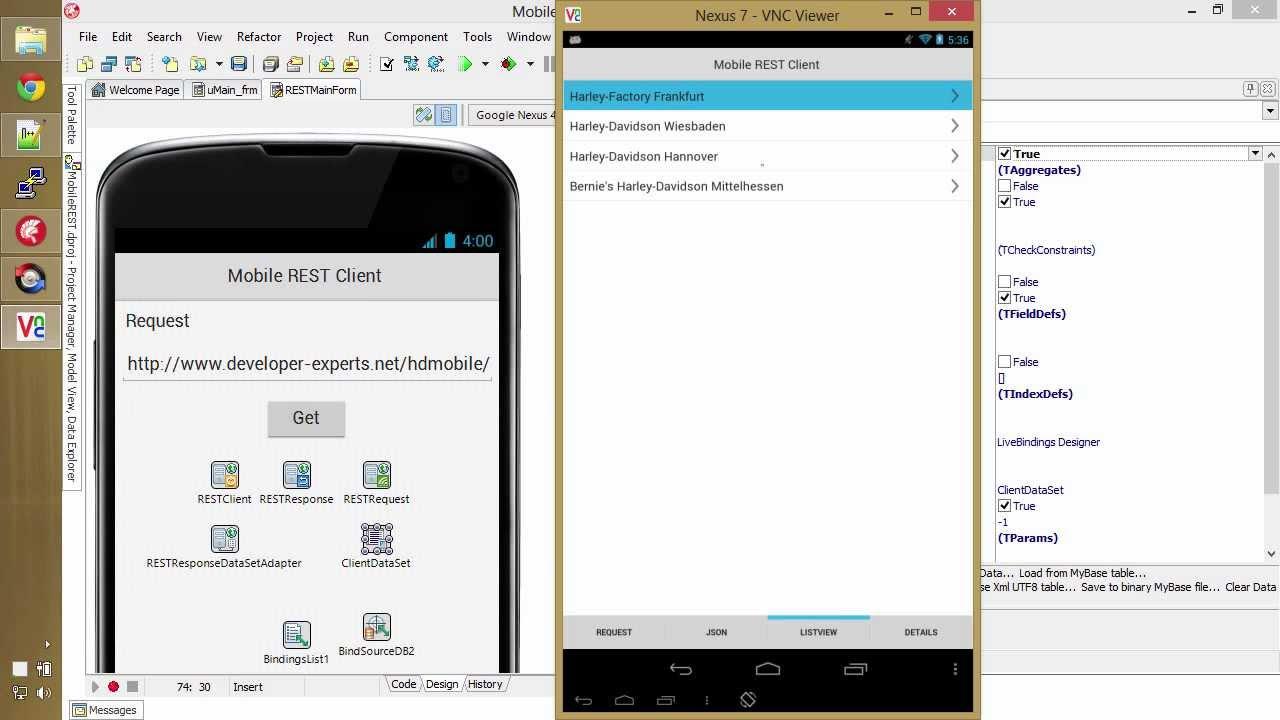 Delphi XE5 Mobile REST Client Demo