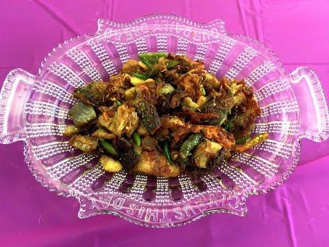 Myanmar Food Recipes ငါးဆားနယ်အစပ်ကြော် Spicy Marinate Milk Fish Recipe
