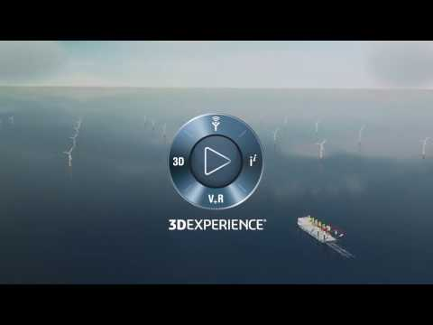 3D-Design of offshore support structures using 3DEXPERIENCE by Dassault Systémes