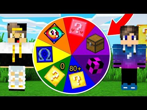 ماين كرافت عجلة الحظ ولكن بداخلها بلوكات الحظ الاسطورية (حظ رهيب جدا) - Lucky Wheel