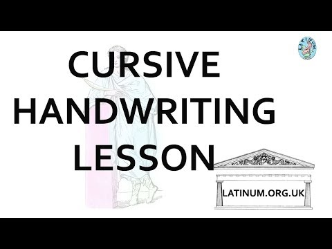 Schoolroom Cursive handwriting script joined up the alphabet a to z and capitals