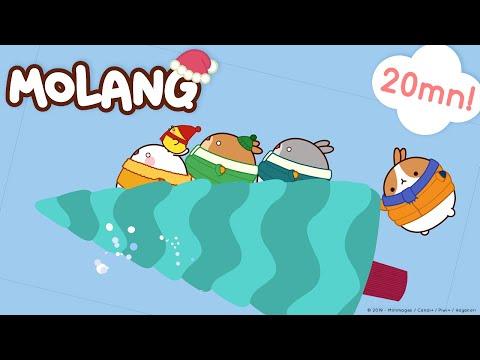 Molang 🎅🎄Funny Christmas Stories 🎁 ✨   #cutecartoon #funnycartoon #noël !