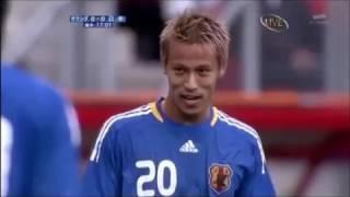 本田圭佑.中村俊輔.フリーキック衝突(譲らない)オランダ戦「2009/9/5」...