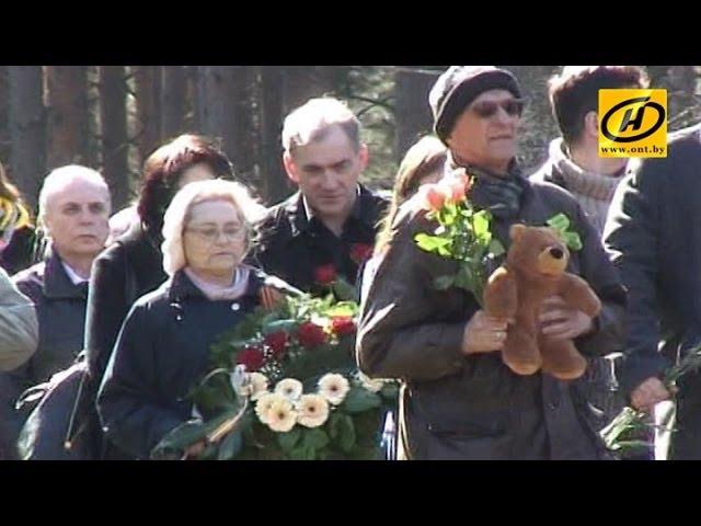 На месте бывшего концлагеря Саласпилс прошли траурные мероприятия