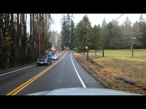 Driving from home in Lacey Washington to Interstate 5 jan 2016