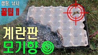 계란판 모기향 / 캠핑 낚시 등 야외 활동시 꿀팁 영상…