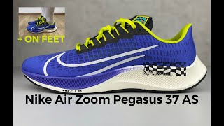 Nike Air Zoom Pegasus 37 AS 'rush violet/sail-black' UNBOCING & ON FEET running shoes 2021