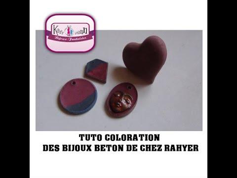 tuto comment colorer le beton creatif de chez rahyer - Comment Colorer Du Ciment