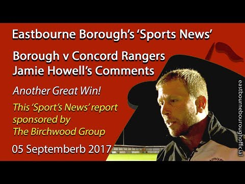 Borough v Concord: Jamie Howell's Post-match Comments