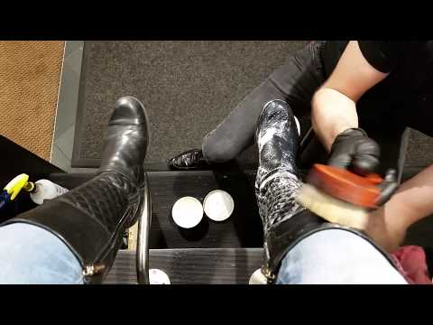 Best shoe shine in Denver, ASMR, POV