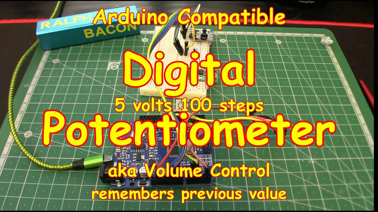 88 digital potentiometer aka volume control easy x9c103  [ 1280 x 720 Pixel ]
