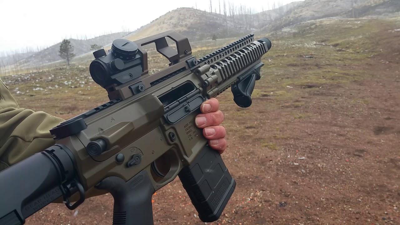 2AR Tactical Custom Aero M5 AR-10  308 Pistol with the Tail Hook Mod 2  Brace and Franklin BFSIII!!