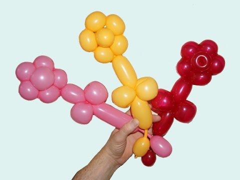 Balloon Flower How To Make One Balloon Flower Youtube