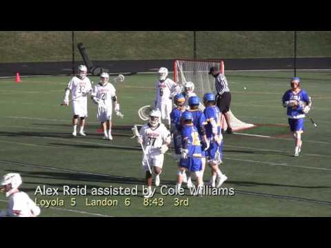 2016 Loyola Blakefield vs Landon Lacrosse Highlights