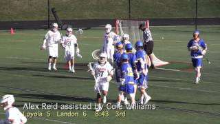 2016 Loyola Blakefield vs Landon Lacrosse Highlights